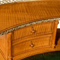 An unusual Victorian freestanding oval satinwood desk - 1629643