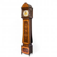 An unusual flame mahogany long case clock attributed to Maples - 750731