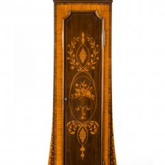 An unusual flame mahogany long case clock attributed to Maples - 750732