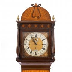An unusual flame mahogany long case clock attributed to Maples - 750733