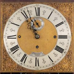 An unusual flame mahogany long case clock attributed to Maples - 750734