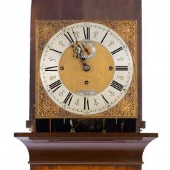 An unusual flame mahogany long case clock attributed to Maples - 750735