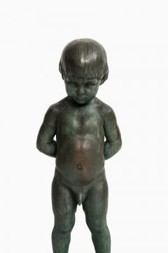 Anders J nsson Sculpture Boy With Apple Founded mark Erik Pettersson fud  - 1914844
