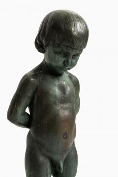 Anders J nsson Sculpture Boy With Apple Founded mark Erik Pettersson fud  - 1914845