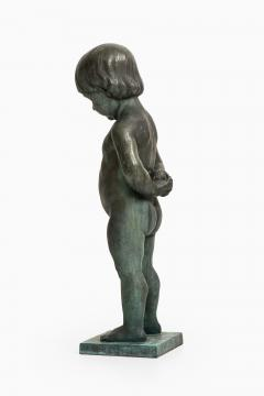 Anders J nsson Sculpture Boy With Apple Founded mark Erik Pettersson fud  - 1914850