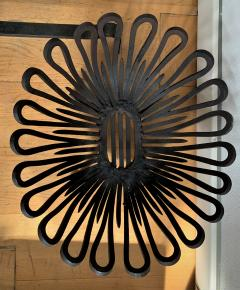 Andirons and Wood Holder in Wrought Iron - 1894695