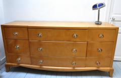 Andr Arbus Andre Arbus refined sycamore chest of drawer - 1689593