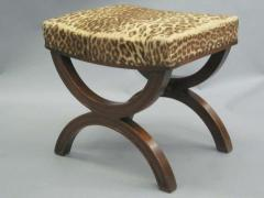 Andr Arbus French Modern Neoclassical Bench or Stool in the Manner of Andre Arbus - 1876881