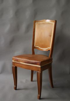 Andr Arbus Set of 12 Fine French Art Deco Mahogany Chairs in the Manner of Arbus - 612954