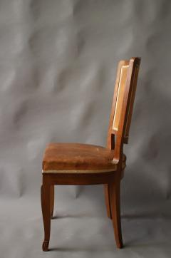 Andr Arbus Set of 12 Fine French Art Deco Mahogany Chairs in the Manner of Arbus - 612955