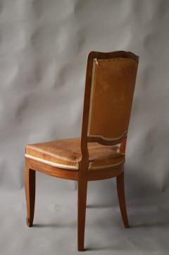 Andr Arbus Set of 12 Fine French Art Deco Mahogany Chairs in the Manner of Arbus - 612956