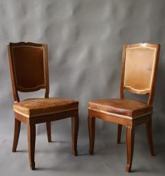 Andr Arbus Set of 12 Fine French Art Deco Mahogany Chairs in the Manner of Arbus - 612957
