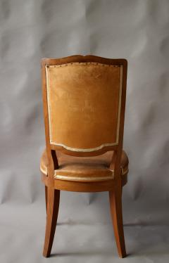 Andr Arbus Set of 12 Fine French Art Deco Mahogany Chairs in the Manner of Arbus - 612958