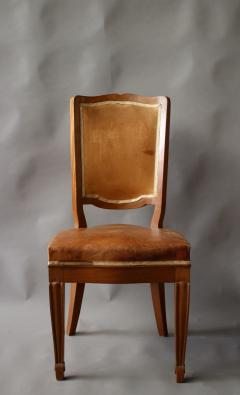 Andr Arbus Set of 12 Fine French Art Deco Mahogany Chairs in the Manner of Arbus - 612962