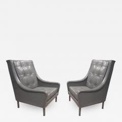 Andr Arbus Two Pairs of Very Rare Club Chairs from the SS France by Andre Arbus - 257531