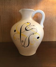Andr Baud Ceramic Jug Vallauris France 1960s - 1941925