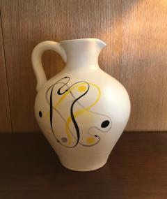 Andr Baud Ceramic Jug Vallauris France 1960s - 1941926