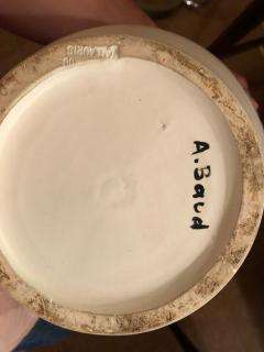 Andr Baud Ceramic Jug Vallauris France 1960s - 1941929
