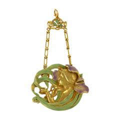 Andr Rambour Andr Rambour Art Nouveau Gold and Enamel Pendant - 175702