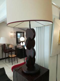 Andr Sornay Art Deco Oregon Pine Table Lamp in the Taste of Andre Sornay circa 1930 - 1108743