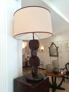 Andr Sornay Art Deco Oregon Pine Table Lamp in the Taste of Andre Sornay circa 1930 - 1108745