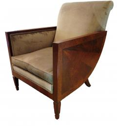 Andr Sornay French Art Deco Mahogany Walnut and Rosewood Bergere - 697995