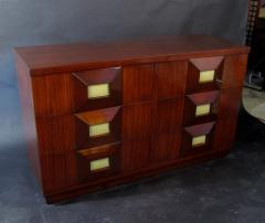 Andr Sornay French Modern Mahogany and Parchment 6 Drawer Chest Andre Sornay - 1375994
