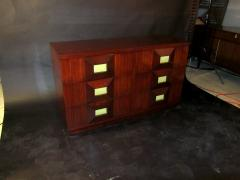 Andr Sornay French Modern Mahogany and Parchment 6 Drawer Chest Andre Sornay - 1375999