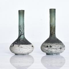 Andre Delatte Art Nouveau Pair Cameo Glass Nancy Vases Andre Delatte Daum - 1184018