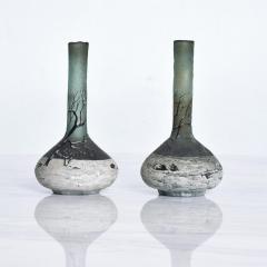 Andre Delatte Art Nouveau Pair Cameo Glass Nancy Vases Andre Delatte Daum - 1184021