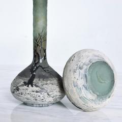 Andre Delatte Art Nouveau Pair Cameo Glass Nancy Vases Andre Delatte Daum - 1184023