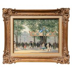 Andre Gisson Oil on Canvas Painting Louvre Carousel  - 976067