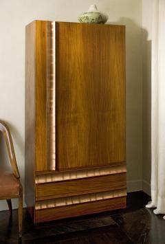 Andre Sornay Armoire Mahogany with Cedar Lined Interior and Copper Hardware - 356983