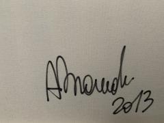 Andrea Brandi Andrea Brandi Mixed Media Black And White Abstract Painting Italy 2013 - 1938727