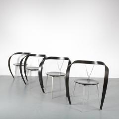 Andrea Branzi Set of 4 Andrea Branzi Revers Chairs for Cassina Italy 1990 - 1194844