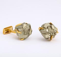 Andrew Grima Gold and Hematite Cufflinks by Andrew Grima - 1170103