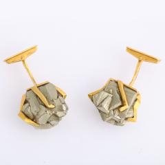 Andrew Grima Gold and Hematite Cufflinks by Andrew Grima - 1170104