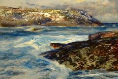 Andrew Winter The Pilot Boat Monhegan Harbor in Winter - 1209237
