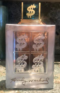 Andy Warhol Set of 15 Lalique Style Glass Decanters Display Bottles signed Andy Warhol - 1111730