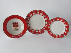 Andy Warhol Set of 24 Place Settings Andy Warhol Campbells Soup Dinnerware - 1170437