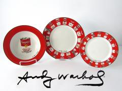 Andy Warhol Set of 24 Place Settings Andy Warhol Campbells Soup Dinnerware - 1170454