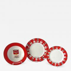 Andy Warhol Set of 24 Place Settings Andy Warhol Campbells Soup Dinnerware - 1172851