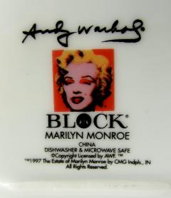 Andy Warhol Set of 24 Place Settings Andy Warhol Some Like It Hot Marilyn Dinnerware - 1169845