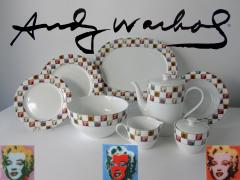 Andy Warhol Set of 24 Place Settings Andy Warhol Some Like It Hot Marilyn Dinnerware - 1169852