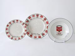 Andy Warhol Set of 24 Place Settings Andy Warhol White Campbells Soup Dinnerware - 1169853