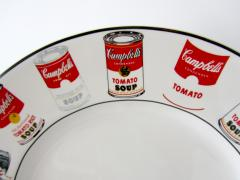 Andy Warhol Set of 24 Place Settings Andy Warhol White Campbells Soup Dinnerware - 1169854