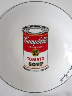 Andy Warhol Set of 24 Place Settings Andy Warhol White Campbells Soup Dinnerware - 1169855