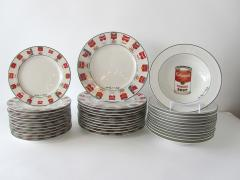 Andy Warhol Set of 24 Place Settings Andy Warhol White Campbells Soup Dinnerware - 1169856