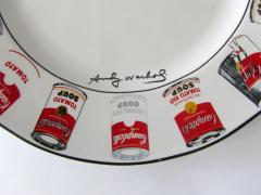 Andy Warhol Set of 24 Place Settings Andy Warhol White Campbells Soup Dinnerware - 1169857
