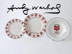 Andy Warhol Set of 24 Place Settings Andy Warhol White Campbells Soup Dinnerware - 1169858